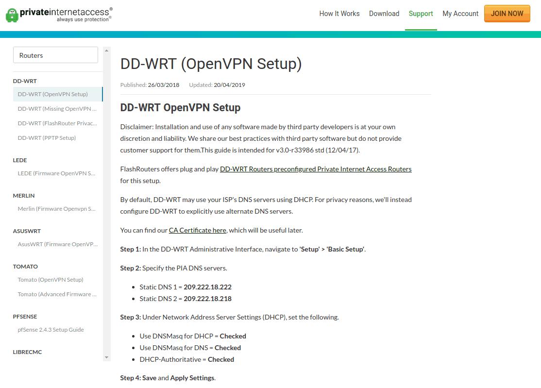 configuration DD-WRT