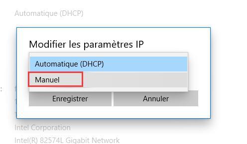 Paramètres DNS