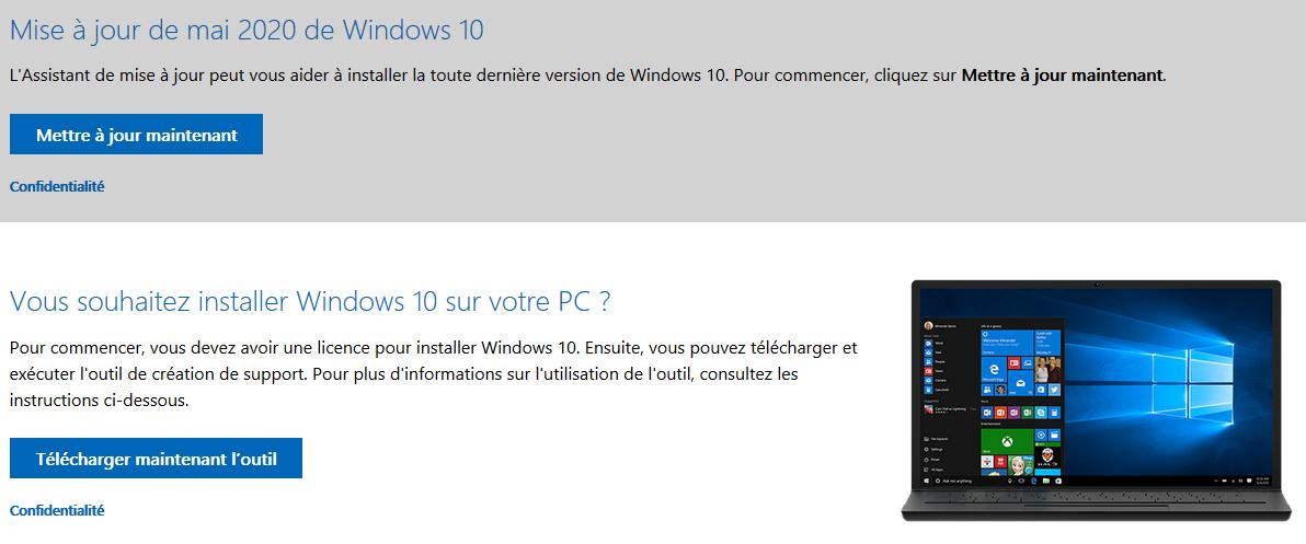 Passer de Windows 7 à Windows 10