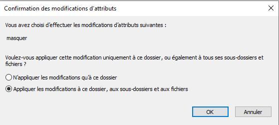 Cacher de Fichier et Dossier