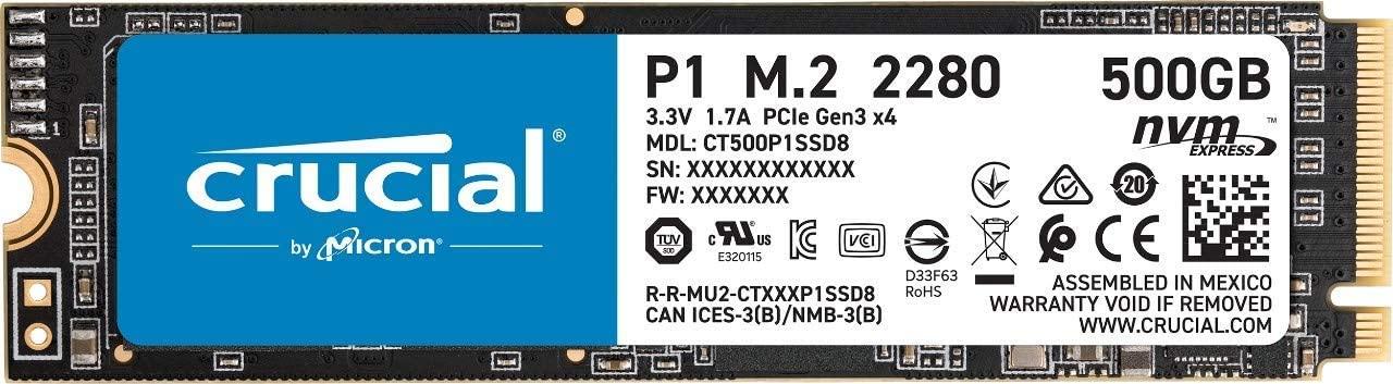 Crucial P2 500GB 3D NAND NVMe PCIe Internal SSD