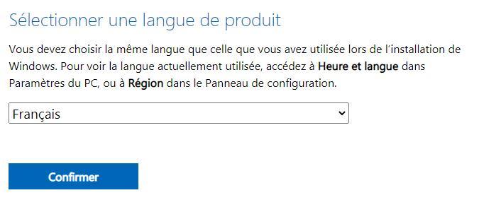 Télécharger le fichier ISO de Windows 11