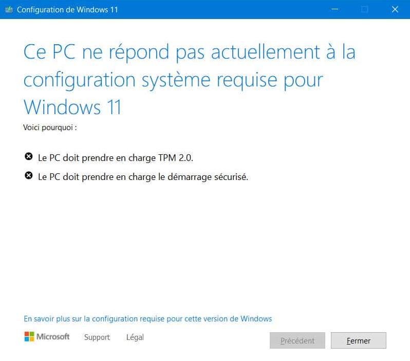 si mon PC n'est pas compatible