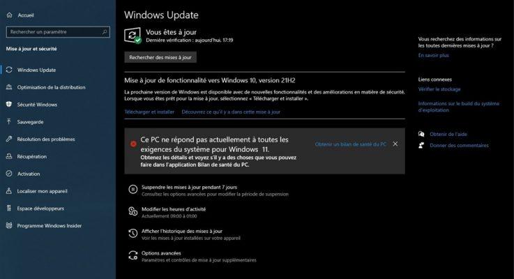 Comment savoir si mon pc est compatible Windows 11 et  installer Windows 11 sur PC non compatible ?